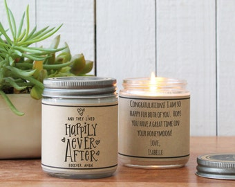 Happily Ever After Candle - Personalized Wedding Gift | Personalized Wedding Card | Unique Wedding Gift | Candle Wedding Gift