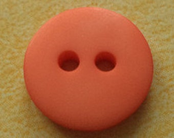 10 small buttons orange 13mm (4247)