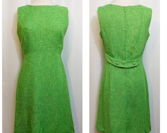 Mod Green 60s Shift Dress