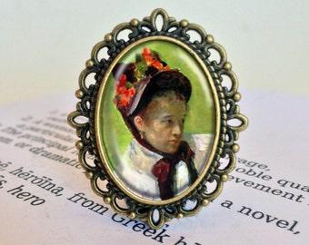 Mary Cassatt Brooch - Women's History Brooch, Art Gift, Impressionist Art Brooch, Mary Cassatt Vintage Jewelry, Art History Jewellery