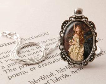 Ophelia Pendant Necklace - Ophelia Jewelry, Pre-Raphaelite Necklace, Ophelia Gift, Vintage Arthur Hughes Pendant, Pre-Raphaelite Jewellery