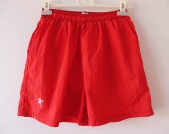 Hot Red Shorts Men's Swimwear Red Swimming Trunks Athletic Wear Men Beach Shorts Red Running Shorts Red Jogging Shorts Medium Size Shorts
