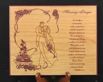 Marriage prayer plaque