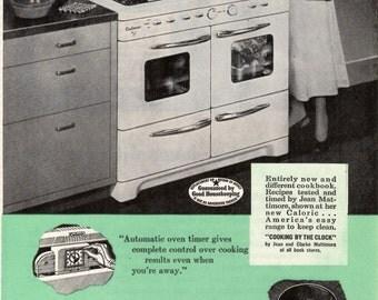 1948 Ultramatic Caloric Gas Range Collectable Original Ad 1708