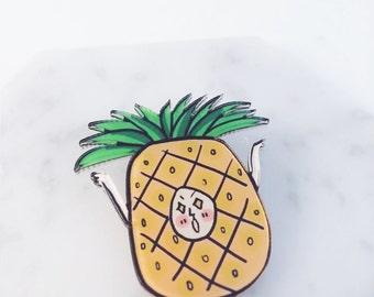 Pineapple pin; PPAP; pineapple accessories; pineapple; pineapple man