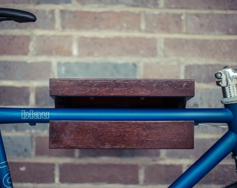 "Bicycle wall mount ""FRANZ JOSEF"" made of wood. Bikeshelf 