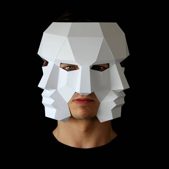 three face mask make this 3d mask with this pdf download and. Black Bedroom Furniture Sets. Home Design Ideas