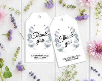 Digital Download Thankyou Tag - Gift Tag - Wedding Thankyou - Bridal Shower Gift - Wedding Gift - Wedding Gift Tag - Wedding Favor Tag