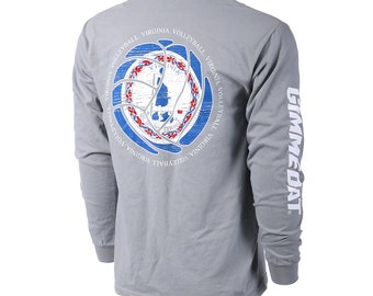 State of Mine: Virginia Volleyball Long Sleeve T-shirt, Volleyball Shirts, Volleyball Gifts, VA Volleyball - Free Shipping!