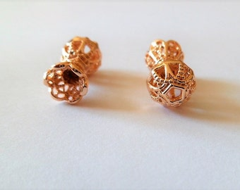 Gold plated filigree gold plated beads
