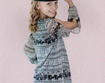 Toddler Girl Fall Dress, Girls Boho Dress, Gypsy Dress, Pixie Clothing, 4th Birthday Dress, Boho Toddler Dress, Girls Bohemian Dress