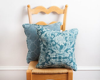 Teal Blue Pillow, Teal, Pillow, Teal Pattern Pillow, Teal Pillow, Teal Decor, Beach House, Beach Bohemian, Turquoise, Teal Velvet Pillow