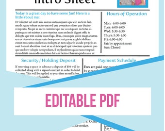 daycare form, dayhome form, Editable, Dayhome, Childcare, Intro Sheet, home daycare, business form, daycare newsletter, daycare handbook