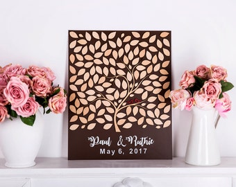 Tree guest book Wedding guest book alternative guest book rustic wedding guestbook guest book custom wedding Guest book Tree of life