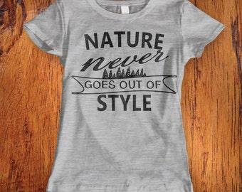 Women's Nature Tshirt, nature lover tshirt, hiking shirt, traveling tshirt, outdoor shirt, , christmas gift, stocking stufferChristmas Gift