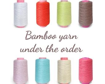 Bamboo yarn, natural yarn, yarn under the order, summer yarn, yarn for crochet, yarn for weaving, lace yarn