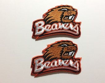 Brand New Oregon State Beavers Embroidered Iron on Patch * 2 sizes to choose from choose size