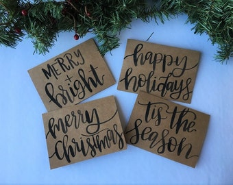 Christmas Cards | Holiday Cards | Greeting Card | Card Set | Merry and Bright | Merry Christmas | Happy Holidays | Tis The Season