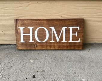 Home Sign | Custom Wood Sign | Home Sweet Home | Rustic Decor | Farmhouse | Housewarming | Hand Painted