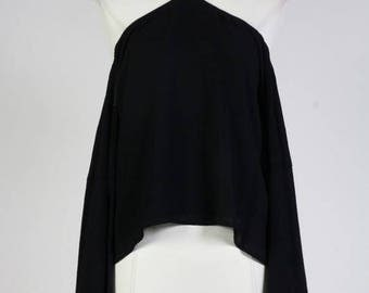 Halter Style Off The Shoulder Tie Back Flowing Blouse/Custom Women Loose Fit Shirt/ ( + Colors )