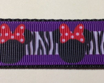 Minnie Mouse Dog Collar -  Purple FREE Shipping