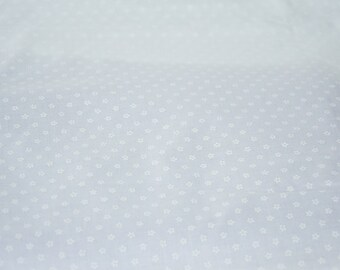 Cotton Tierno Moli Hilco white floral print