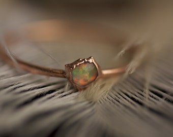 READY TO SHIP. Free Form White Opal Ring. Opal Ring. Copper White Opal Ring. Tiny Opal Ring. Tiny White Opal Ring. White Opal Ring.