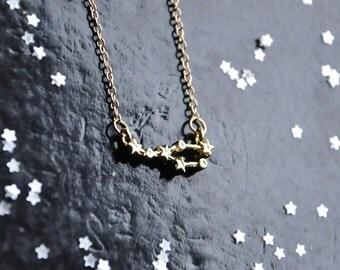 Taurus necklace, Zodiac jewellery, Constellation necklace, Astronomy lover, Geek necklace, Astrology gift, Birthday gift, Choker necklace