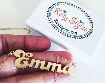 customized name necklace - my name necklace - gold name necklace - necklace with name - name necklace gold - EMMA - name necklace customized