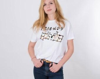 Friends TV Show Shirt Clothing Tshirt Tee Shirt Tops Friends TV Show Gift Quotes Friends Gift Movie Shirt Printed Tumblr Graphic PA1201