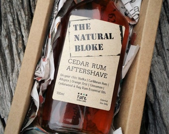 Cedar Rum Aftershave - The Natural Bloke  - 100ml