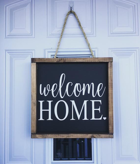 Welcome Home Rustic Wooden Sign Farmhouse Decor Home Decor