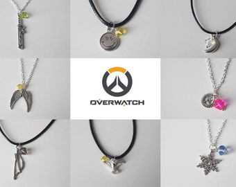 Overwatch inspired unisex Character Necklaces