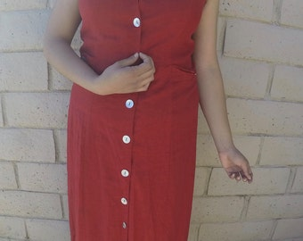 Vintage Red Long Dress
