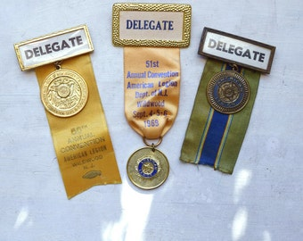 Vintage Ribbons Convention Delegate Ribbons