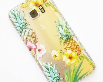 Tropical phone case // Tropical Iphone 7 case // Clear Iphone case // Galaxy 7 case / Iphone 6 case / Cell phone case / Clear Iphone 6 case