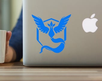 Team Mystic Decal, Pokemon Go Decal, Pokemon Decal, Pokemon Go, Pokemon, Team Mystic, Permanent yeti tumbler decal, car decal, laptop decal