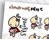 Tinta | BE STRONG | Planner Stickers (TA72)
