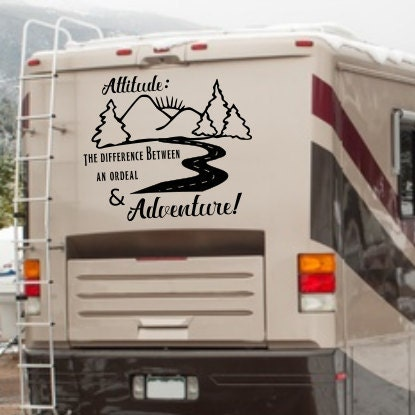 Rv adventure decal adventure awaits adventure rv decal for Decals for rv mural