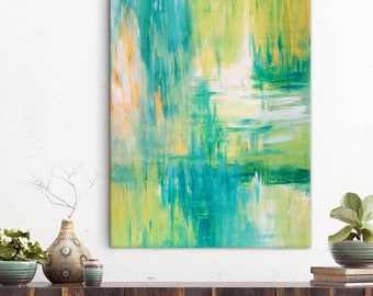 Original Abstract Acrylic Painting on Canvas, Hand Made Large Contemporary Wall Art, In Stock, Free Shipping