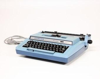 Vintage Smith-Corona Super Sterling Blue 3 l typewriter-Retro typewriter