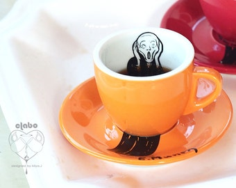 Edvard Munch_Scream -_Espresso Cup_ORANGE
