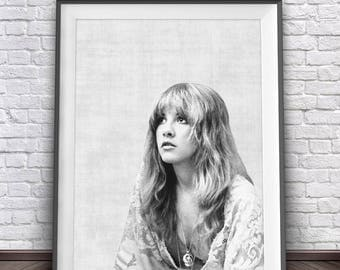 Stevie Nicks Poster • Fleetwood Mac Poster Stevie Nicks Print Art Bohemian Prints Gypsy Art Fleetwood Mac Art Bohemian Decor Gypsy Decor
