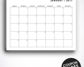 2017 desk calendar printable desk planner wall calendar