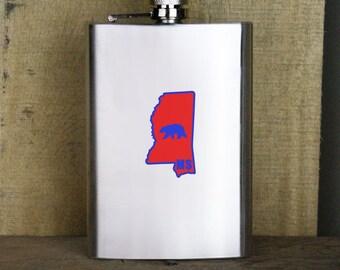 Original I Bear Mississippi Variant Classic University 8oz. Flask