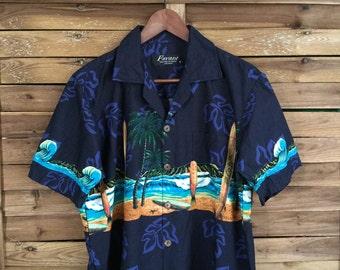 Camisa Hawaiiana Favant Surf Print hawaiian Print