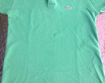 Vintage 1980s Izod Lacoste Child's Polo shirt - kelly green