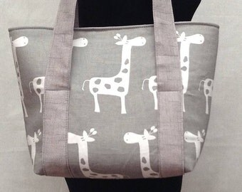 Giraffe Diaper Tote Bag, Boy Diaper Bag, Baby Shower Gift, Diaper Bag Tote, Baby Diaper Bag, Small Diaper Bag, Girl Diaper Bag, Nappy B