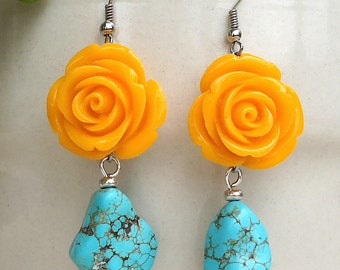 Turquoise earrings. Earrings. Earrings.or Earrings flower ange network. Earrings yellow maize. Earrings. Coral. Turquoise. Earrings flowers.