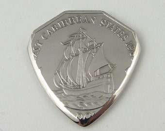 Coin Guitar Pick - Eastern Caribbean Dollar